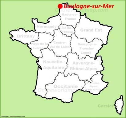 Boulogne-sur-Mer Location Map