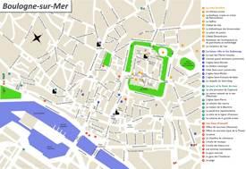 Boulogne-sur-Mer Tourist Map