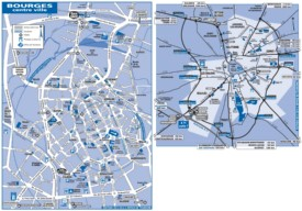 Bourges tourist attractions map