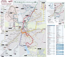 Bourges transport map