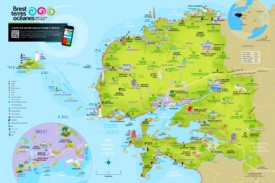 Brest area tourist map