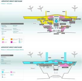 Brest Bretagne Airport map