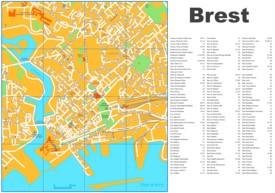 Brest tourist map