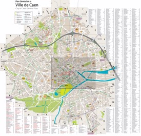 Caen tourist map