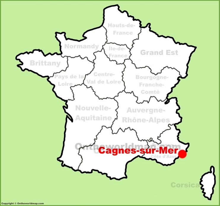 Cagnes-sur-Mer location on the France map