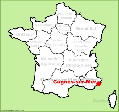 CagnessurMer Maps France Maps of CagnessurMer