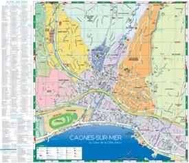Cagnes-sur-Mer tourist map