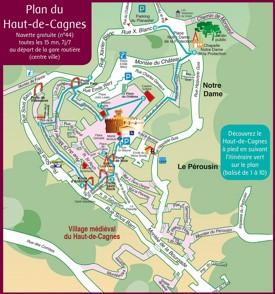 Haut-de-Cagnes map