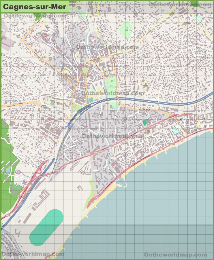Large detailed map of Cagnes-sur-Mer