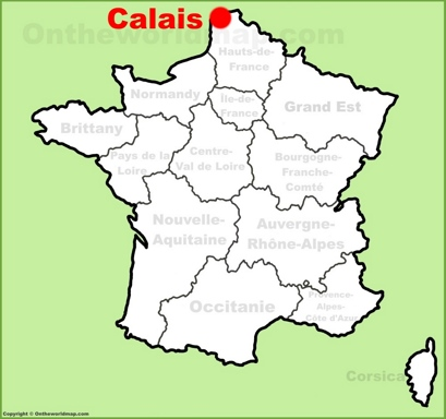 Calais Location Map