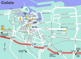 Calais tourist map