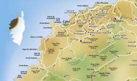Calvi area map