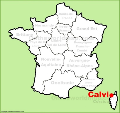 Calvi Location Map