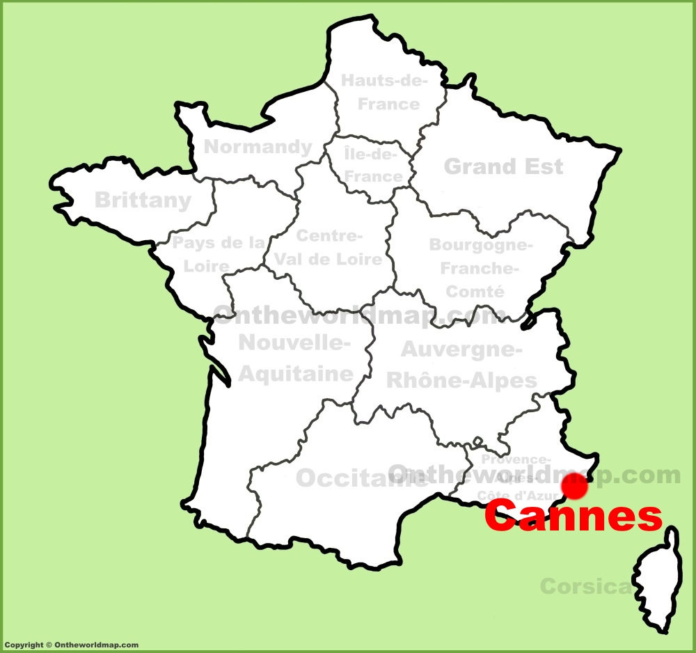 Map Of Cannes Cannes Maps | France | Maps of Cannes
