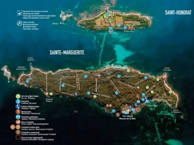 Lerins Islands tourist map