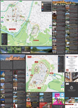 Carcassonne sightseeing map