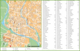 Carcassonne streets map