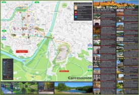 Carcassonne tourist attractions map