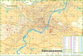 Carcassonne tourist map