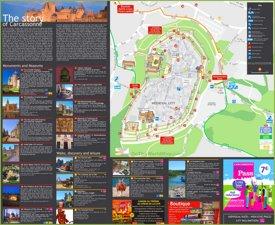 Cite de Carcassonne tourist map