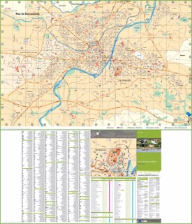 Large detailed tourist map of Carcassonne