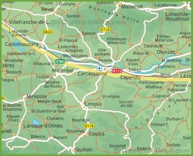 Carcassonne Maps France Maps of Carcassonne
