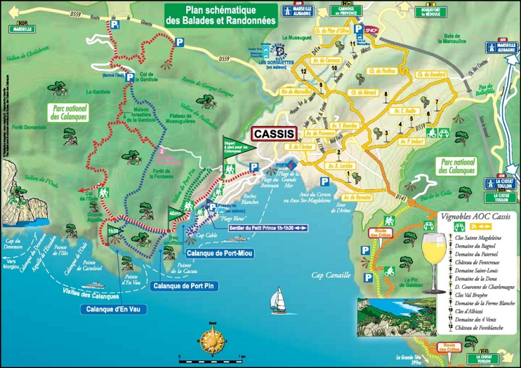 Cassis area map