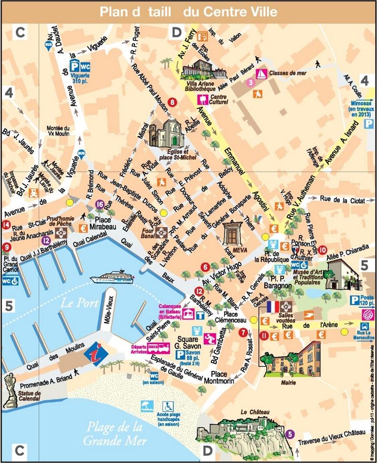 Cassis city center map