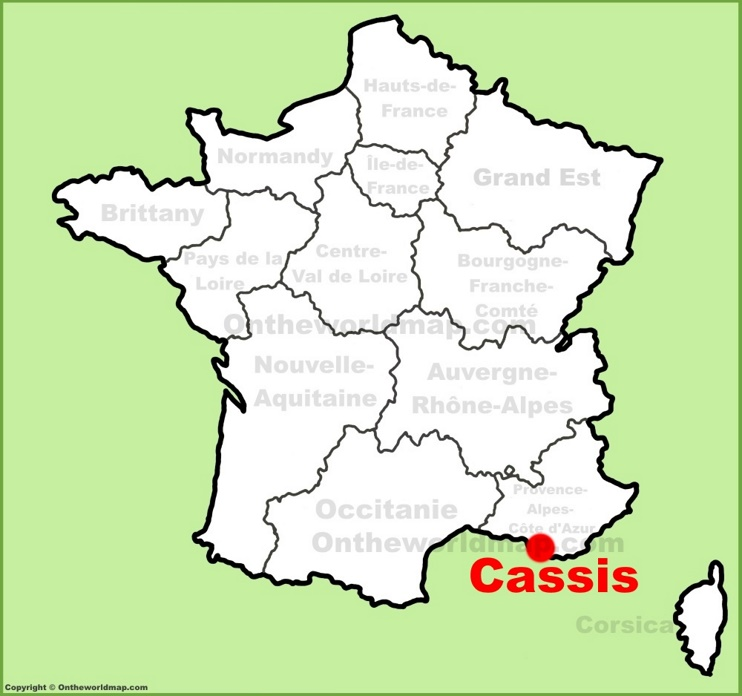 Cassis location on the France map