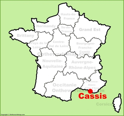 Cassis Location Map