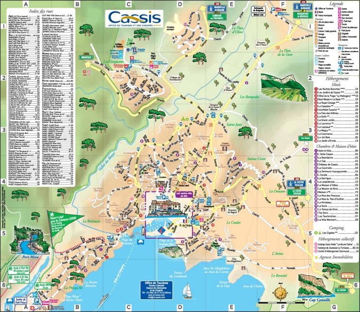 Cassis tourist map