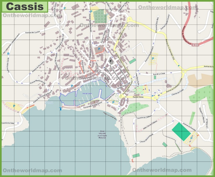 Large detailed map of Cassis