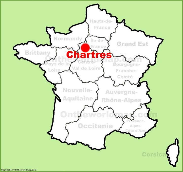 Chartres location on the France map