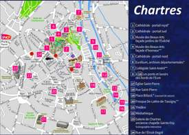 Chartres Tourist Map
