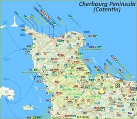 Cherbourg Peninsula Map