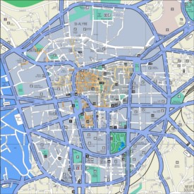 Clermont-Ferrand city center map