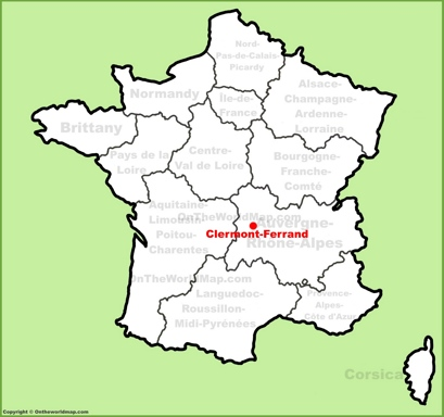 Clermont-Ferrand Location Map