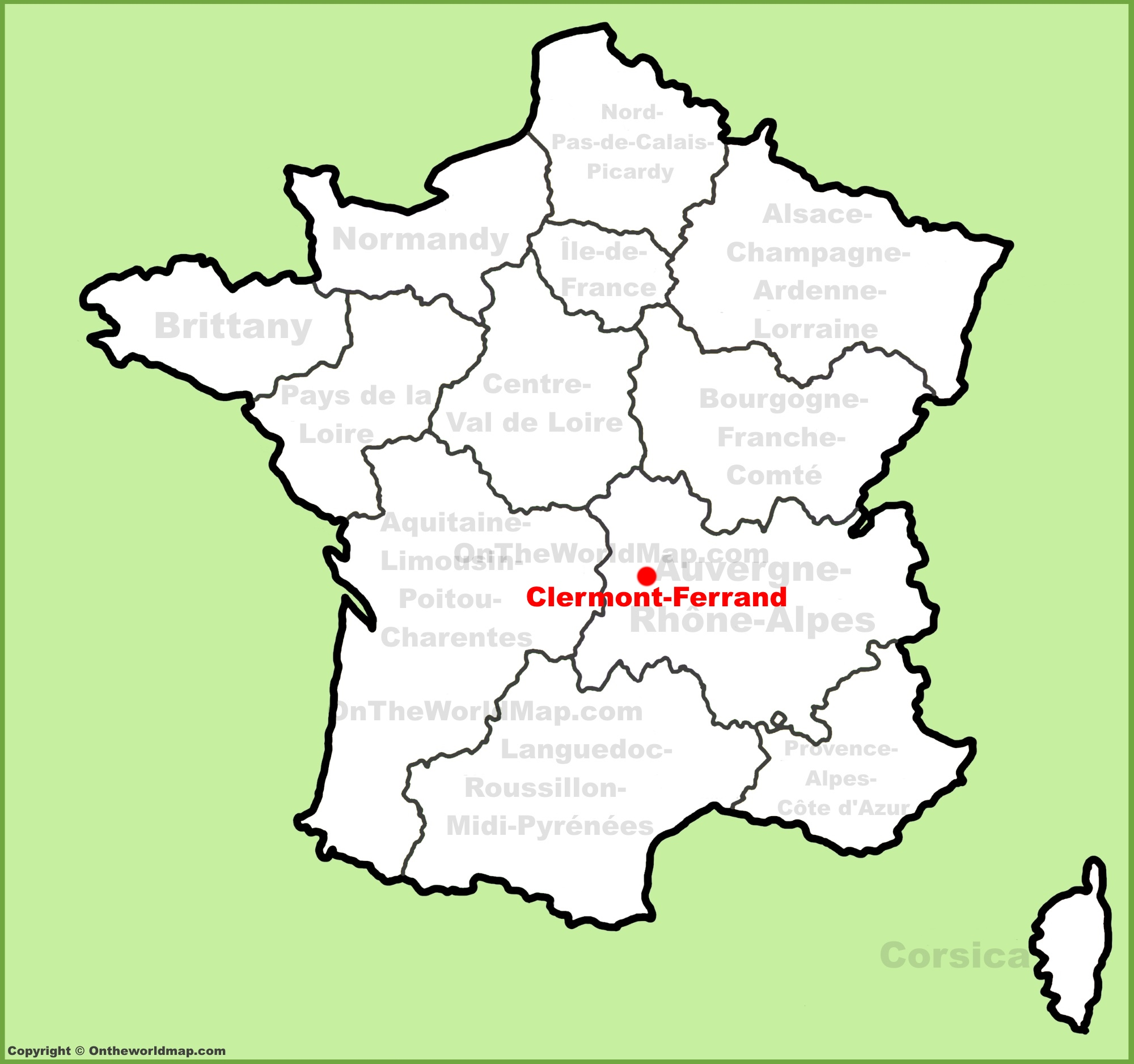 Clermont Ferrand location on the France map