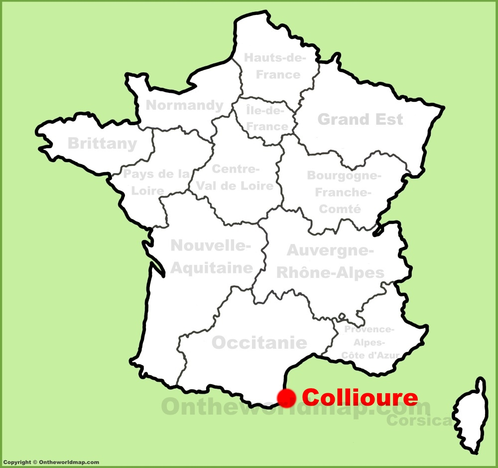 Collioure location on the France map