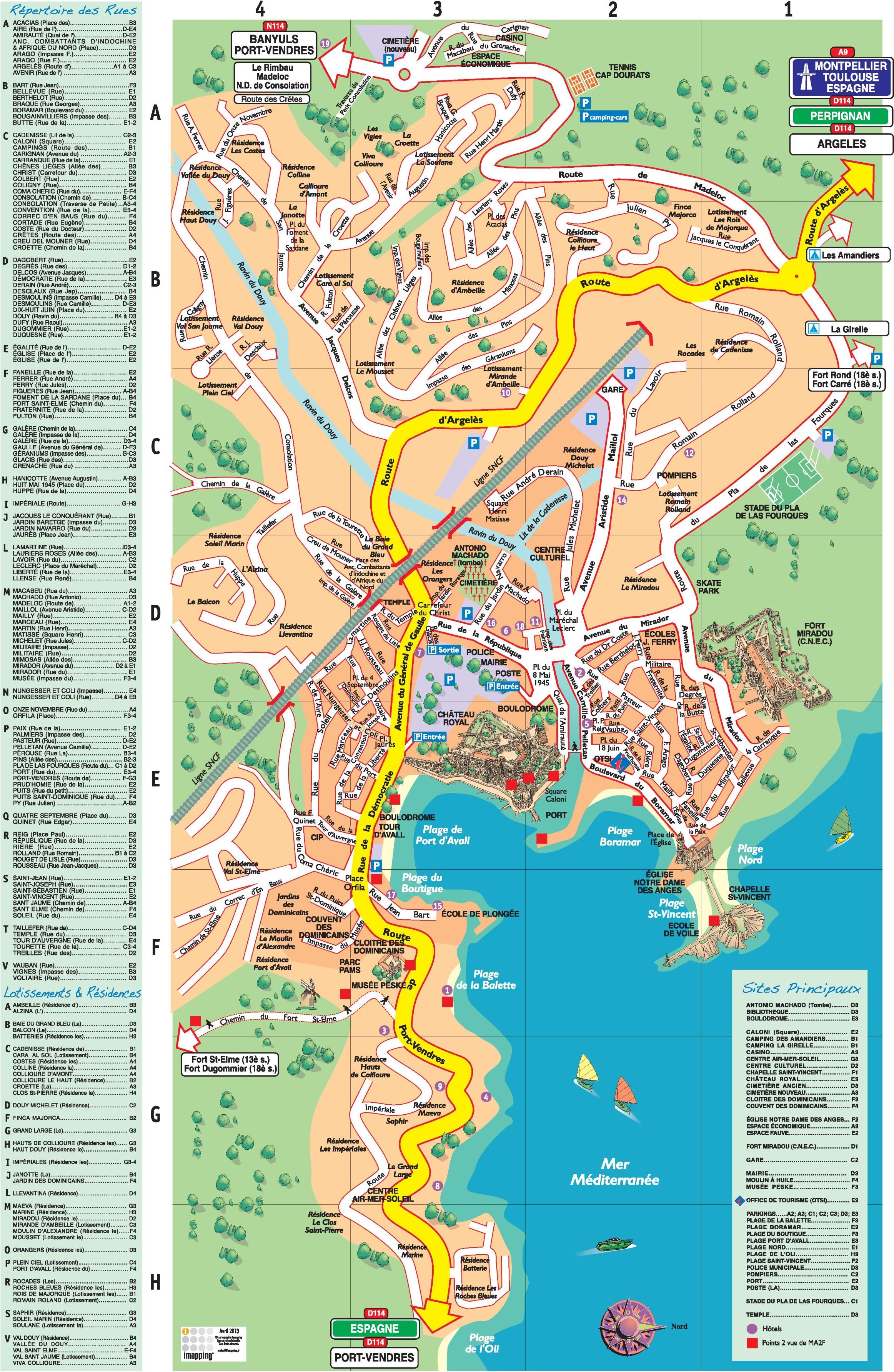 Collioure tourist map