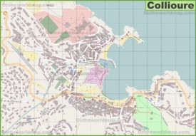 Large detailed map of Collioure