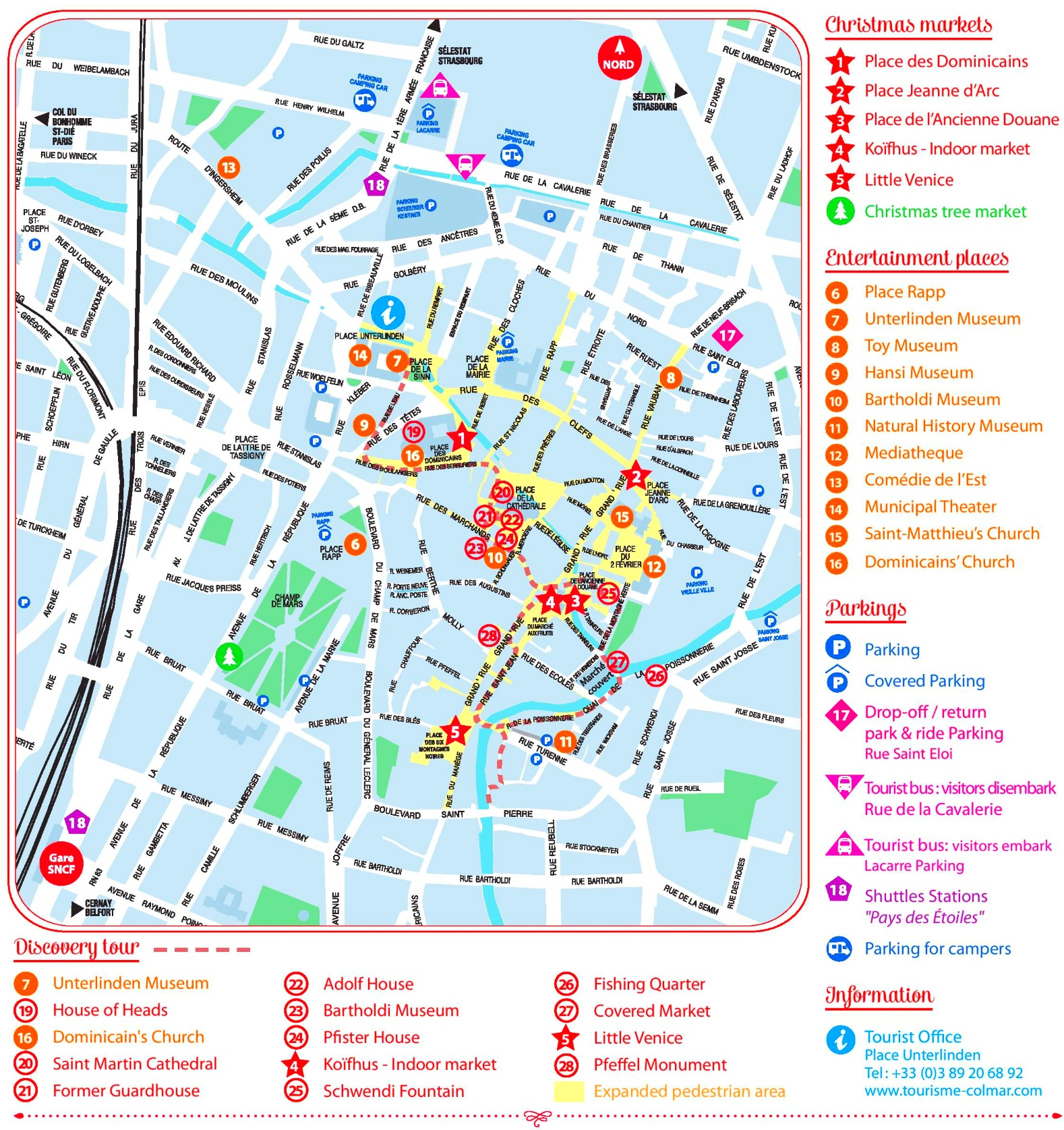 Colmar City Center Map - Little venice map