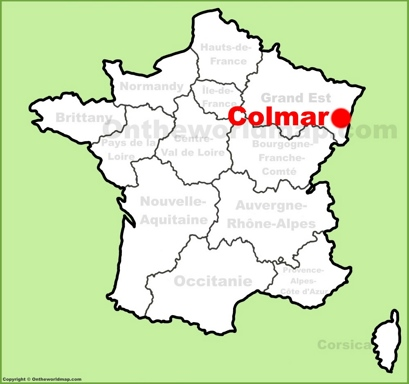 Colmar Location Map