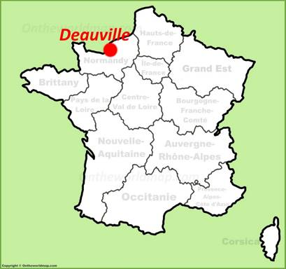 Deauville Location Map