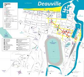 Deauville Tourist Attractions Map