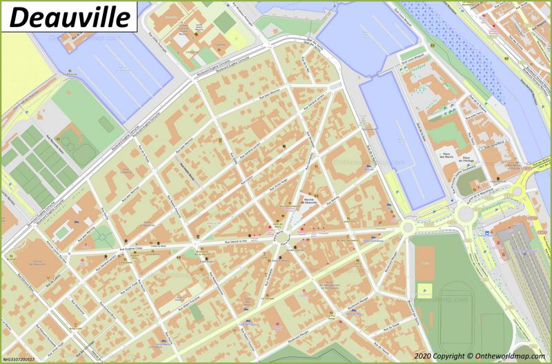 Map of Deauville