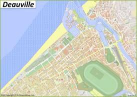 Detailed Map of Deauville