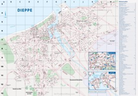 Dieppe tourist map