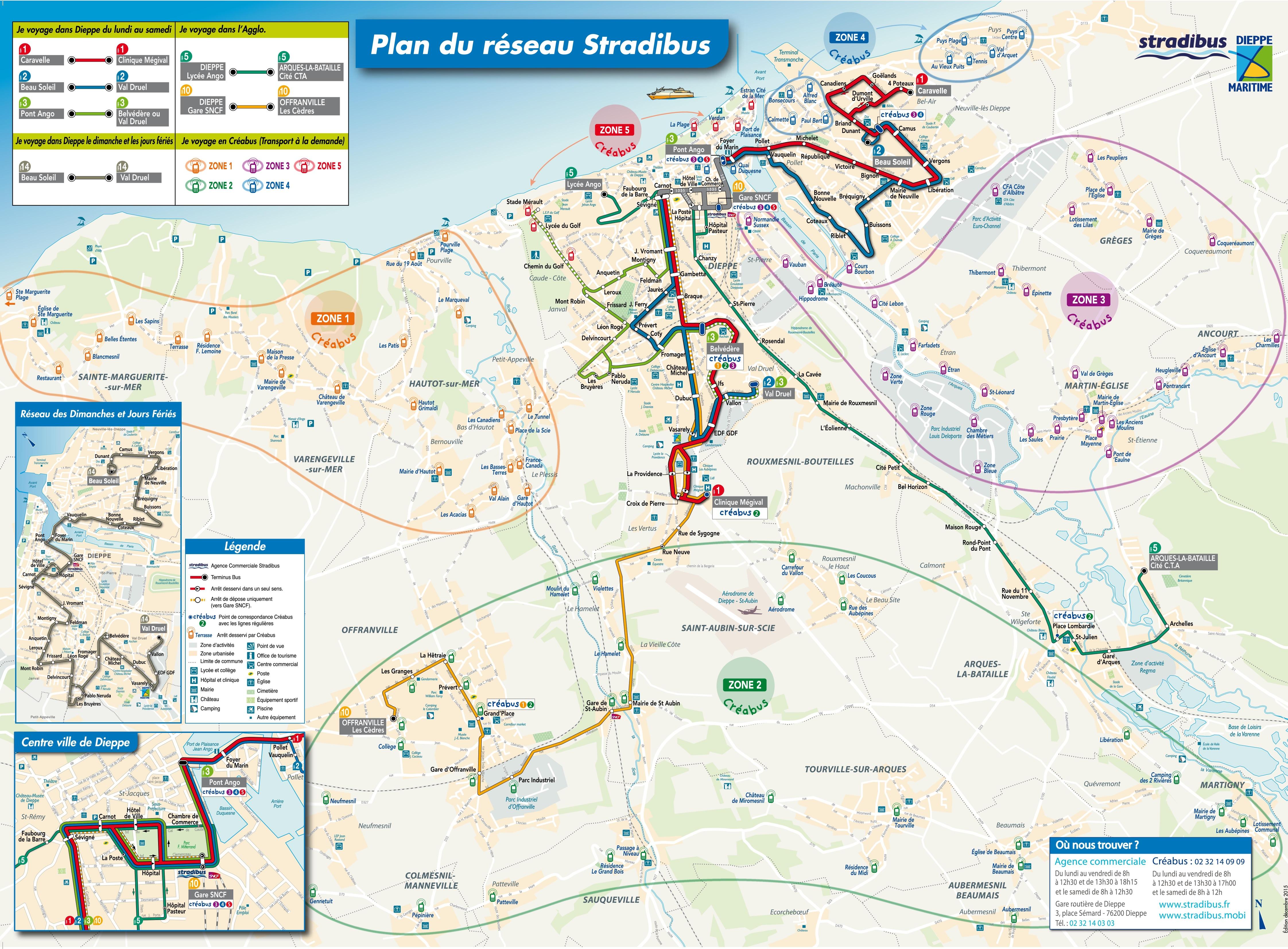 Dieppe transport map