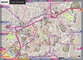Dijon city center map